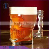 Personalized fancy skull shaped clear beer glass mug                                                                         Quality Choice