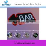 Acrylic board Frontlit Bar Open Neon Sign, 12V BarSign