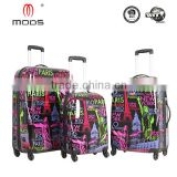 luggage spare parts MEN,WOMEN DEPARTMENT NAME ABS+PC FILM PRINTING HARDSIDE WITH SPINNER CASTER TRAVEL LUGGAGE SET