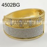 Fashion Vintage Jewelry Solid Alloy Gold Women's Rhinestone Bracelet Bangle