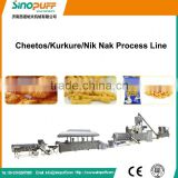 High Efficiency Kurkure Manufacturing Plant/Chinese Full Automatic Puffed Corn Snacks Processing Machine