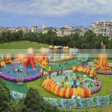 Durable Plato 0.55mm PVC Tarpaulin Floating Outdoor giant Inflatable Water Park