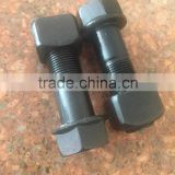M20X1.5X65 track shoe hex bolt and nut for excavator and bulldozer                                                                         Quality Choice