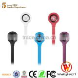 Wallytech Original WHF-107 Flat Cable OEM fashion headphone price made in China for samsung galaxy