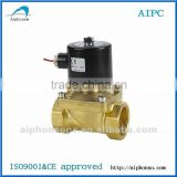 "2 Way 2 Position Zero Pressure Starting Function Normal Close Direct Drive solenoid Water Valve Large Aperture G3/8"" UW series"