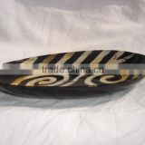 oblong shaped buffalo horn plastes with intricate carving for home stores and interior designers