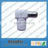 9.5 mm male right angle white pal connector TV 75 ohm