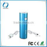 Round tube metal 2200mah powerbank for smartphone