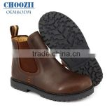 Wholesale Western Winter Brown Genuine Leather Rubber Sole Boys Shoes Slip on Elastic Children Australia Ankle Boots