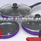 Nonstick Aluminium Fry Pan Sets with lid