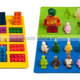 FDA food grade bpa free cartoon characters lego silicone molds candy molds soap chocolate