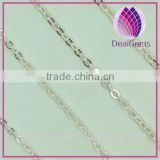 Wholesale flat 925 Sterling Silver Roll Neck Chain and antioxidation and antiallergic and non-fade
