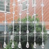 Sparking Transparent Butterfly Curtain Teardrop Wedding Garland Plastic Beaded Curtain Online Sale