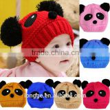 Animal Panda Baby Hats And Caps Kids Boy Girl Crochet Beanie Hats Winter Cap For Children To Keep Warm Hot Sale