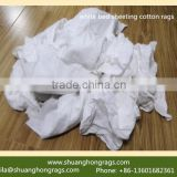 Recycled hotel bed sheet cotton rags