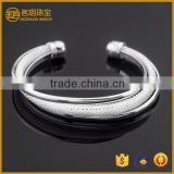 2015 Indian silver plated expandable bangle costume jewelry for women fashion bracelets jewellery wholesale
