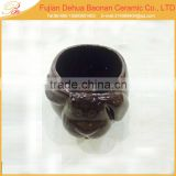 ceramic small animal shape flower pot desktop decor