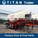 Tri-axle V shaped cement trailer, Bulk Cement Tank Semi Trailer with air compressor and disel engine