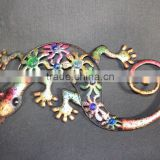 Metal gecko Decor