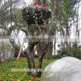 Cast bronze garden metal tree sculpture