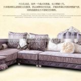 M868 Home Use High Class Living Room Furniture European Classical Wooden Fabric Sofa with Lounge Chaise