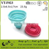 silicone foldable tea/ coffee/ water cup