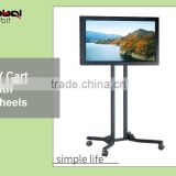 Detachable TV mount bracket with wheels, adjustable in height TV stand