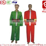 High quality 100% flame retardant fabric 97type Green Orange Firefighting Reflective Wear