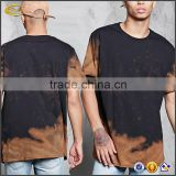 Ecoach latest design tie dye clothing short sleeve 100%cotton tie dye tee t shirts for men