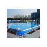 Outdoor inflatable Water Park Metal Frame Swimming Pools blue With SGS EN71