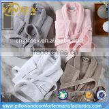 China Manufacturer Wholesale Coral Fleece Velour Flannel Waffle Cotton Terry Lady Bathrobe