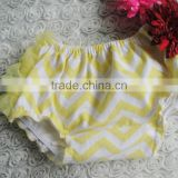 Yellow Chiffon Fluffy Chevron Toddler Cotton Panties