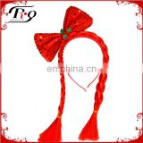 new year decoration with braid party headband