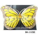 fashion rhinestone crystal brooch with zinc alloy