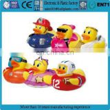 Custom made sunglasses bath rubber duck, mini bath christmas rubber duck bath toy, Wholesale custom bulk promotion rubber duck