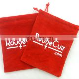 red velvet bags, jewellery pouches, small, 3 x 4 inch 7 x 9 cm