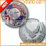 The most popular custom military coin with Custom 3D/2D logo with plating gold/sliver and soft enamel with die costing for army