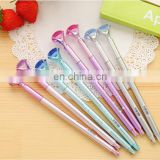 crystal big diamond pen gold-plated gel ink pen