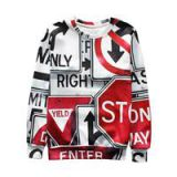 New Style Fashion Casual Loose Chemical Fiber Cotton 3D Printed Men's Hoodie Sweatshirt