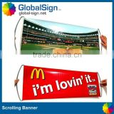 Hand Held Retractable Self Scrolling Fan Banner                                                                         Quality Choice