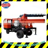 Truck-Mounted Solar Hydraulic Ground Screw Pile Driver
