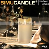 Flameless led candle with dancing flame in lights with USA and EU patent for wedding gift