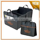 Promotional back seat organizer with tray