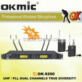 OK-9200 Dual Channels/UHF PLL 32/96 ,True Diversity