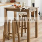 DT-4096 Space Saving Solid Wood Dining Table Set