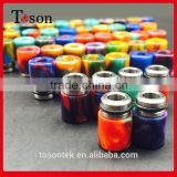 2016 New rda rba atomizer epoxy resin drip tips 510 ceramic stone flat 510 drip tips