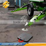 customized uhmw-pe crane truck outrigger pad/heavy load capacity crane mat/crane stabiliser pads