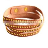 Pu leather vintage brown bracelet for women bangle pulseiras braceletes femininas indian bangles love for girl party cc 2015