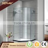 Hot Product Custom Fiberglass Flexible Frameless Tempered Glass Shower Cubicles Enclosure Sri