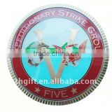"""V"" letter Country metal coin / Travel group commemorate coin with diamond cut edge"